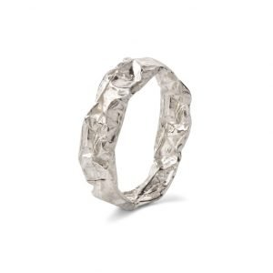 chocolate silver ring