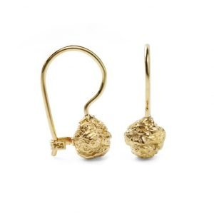 chocolate 13kt gold earrings