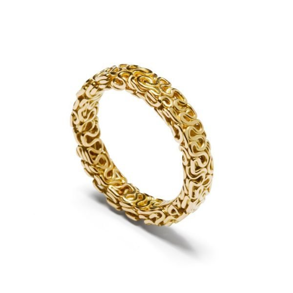 Squeeze ring - 18 karat guld