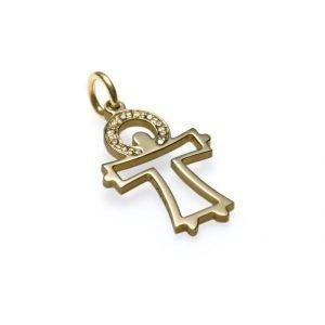 Velsignet af en engel - 14 karat guld med diamanter
