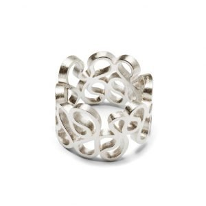 Flamenco ring - 18 karat hvidguld