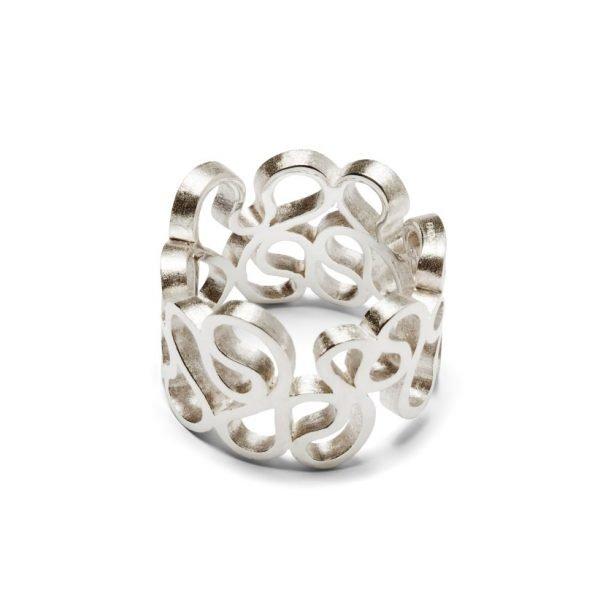 Flamenco ring - 18 karat hvidguld