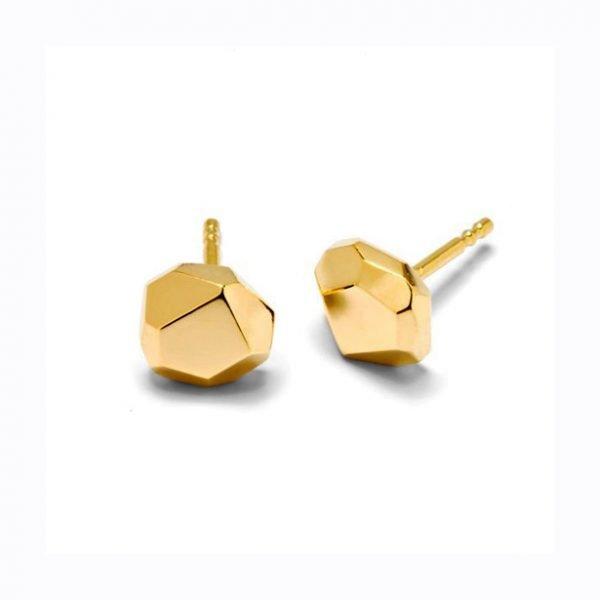 Facet ørestikker - 18 karat guld