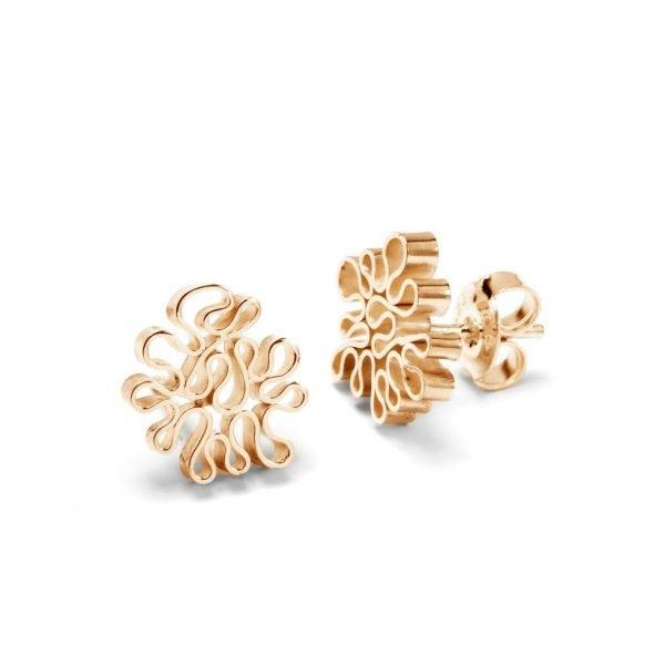 Flamenco ørestikker - 18 karat guld