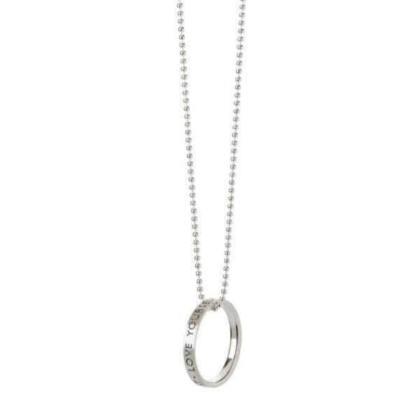 Helping Hand ring - sterlingsølv i sølv kæde