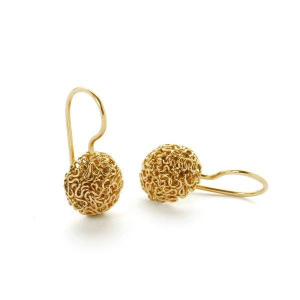 Squeeze øreringe - 18 karat guld