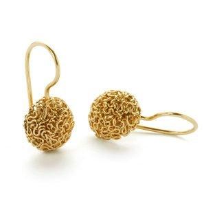 Squeeze ørering - 18 karat guld
