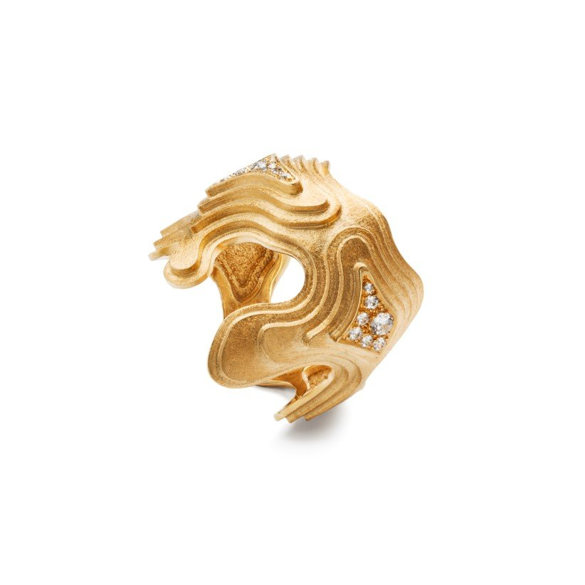 Treasure Island ring – 18 karat guld med diamanter