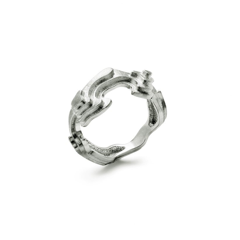 Treasure Island ring – 18 karat hvidguld