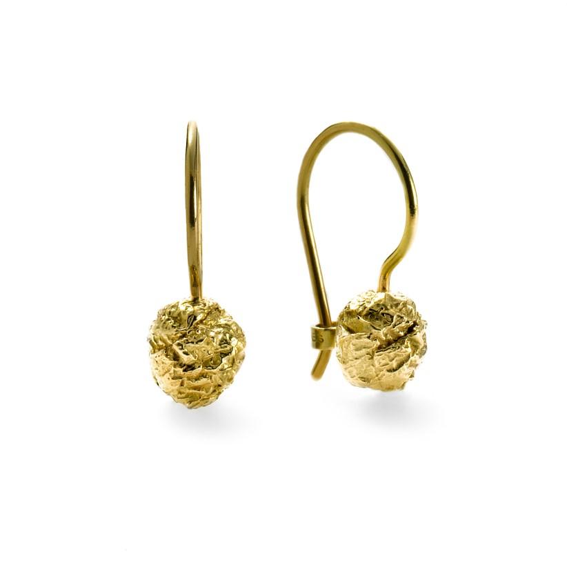 Chokolade øreringe - 18 karat guld