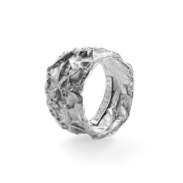 Chokolade ring - 18 karat hvidguld