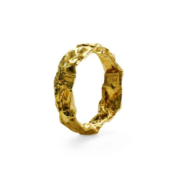 Chokolade ring - 18 karat guld