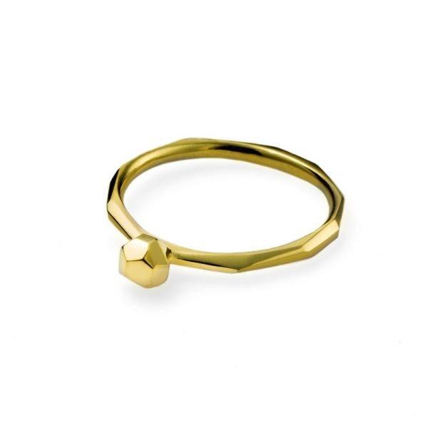 Facet ring - 18 karat guld
