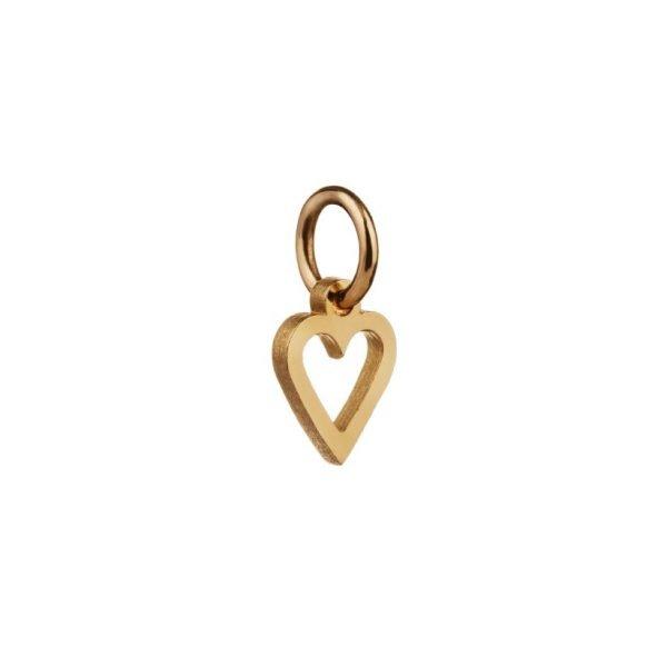 Hjerte vedhæng i 18 karat guld
