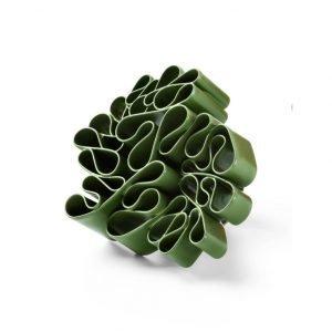 Urban Garden farvelakeret ring i sølv, grøn