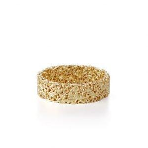 Squeeze ring, 6 mm, 18 karat guld
