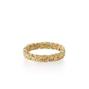 Squeeze ring, 3 mm, 18 karat guld