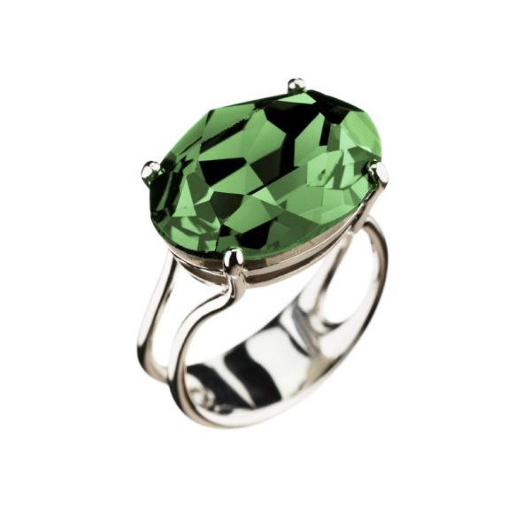 Colour Cocktail ring in Green