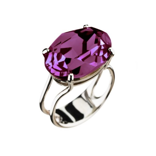 Colour Cocktail ring in Purple