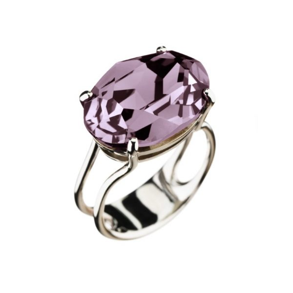 Colour Cocktail ring in Light Purple
