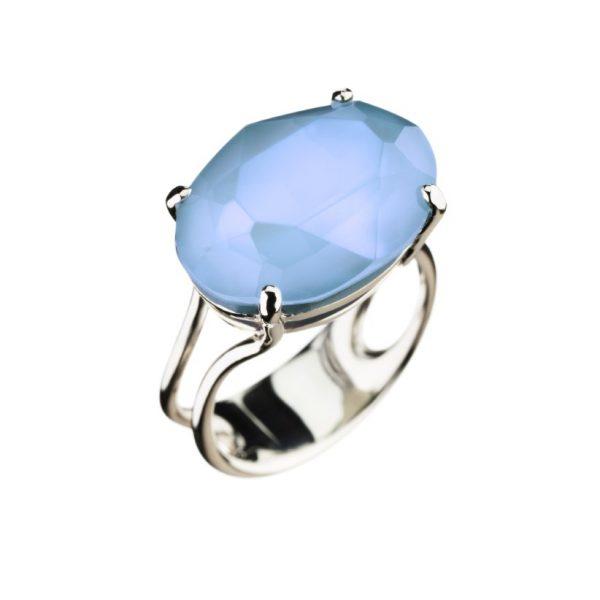 Colour Cocktail ring, opak blå