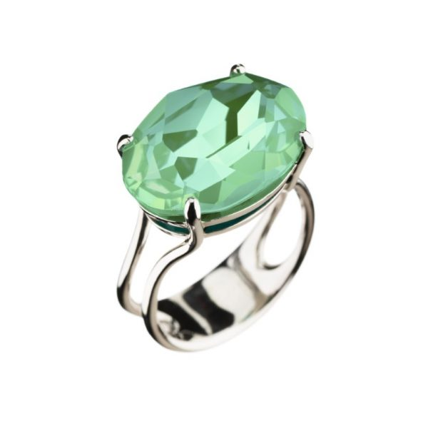 Colour Cocktail ring in Sparkling Light Turqouise