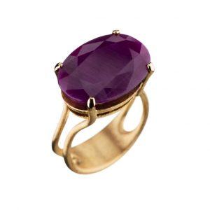 Colour Cocktail ring med rubin