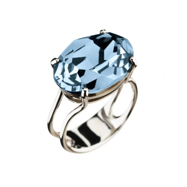 Colour Cocktail ring in Light Aquamarin