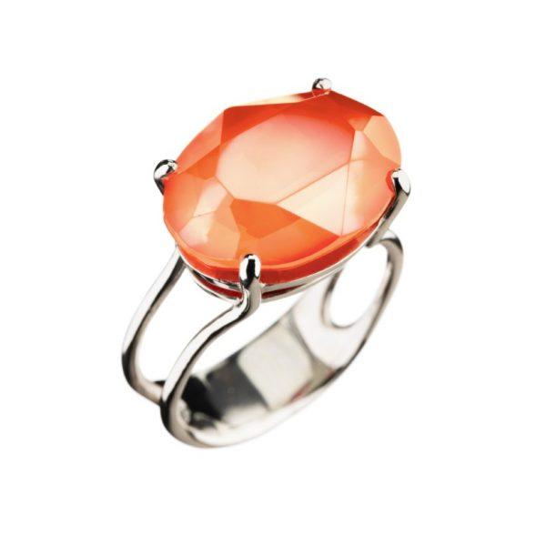 Colour Cocktail ring in Opak Orange